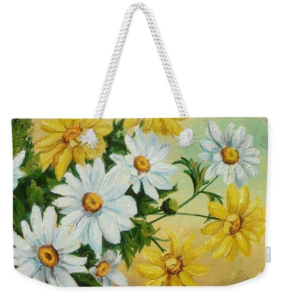 Daisies In The Sky Weekender Tote Bag