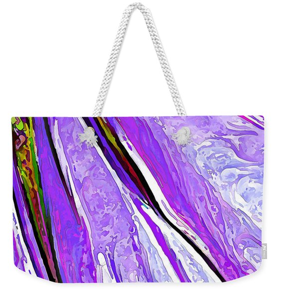Daisy Petal Abstract In Grape Weekender Tote Bag