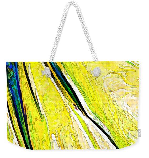 Daisy Petal Abstract In Lemon-lime Weekender Tote Bag