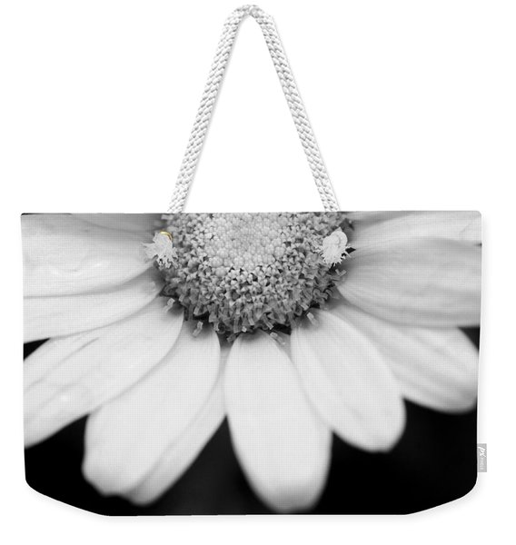 Daisy Smile - Black And White Weekender Tote Bag