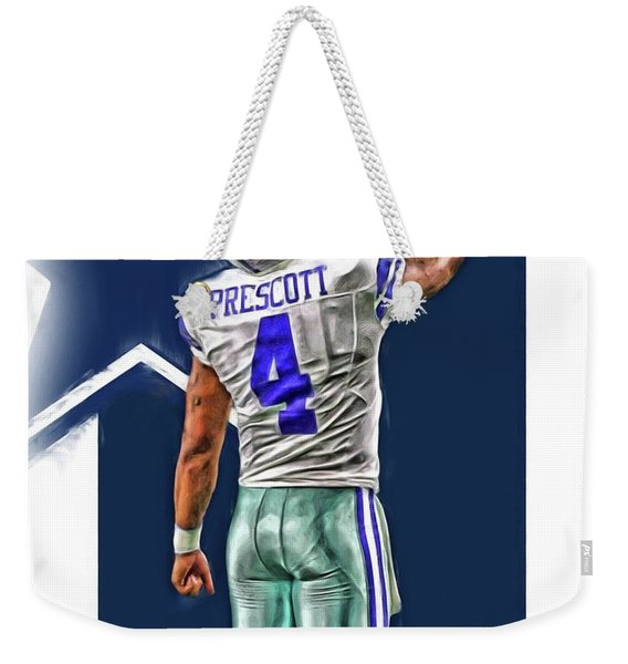 Dak Prescott Dallas Cowboys Oil Art Series 2 Weekender Tote Bag