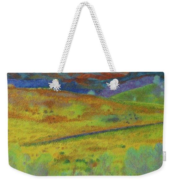 Weekender Tote Bag featuring the painting Dakota Territory Dream by Cris Fulton