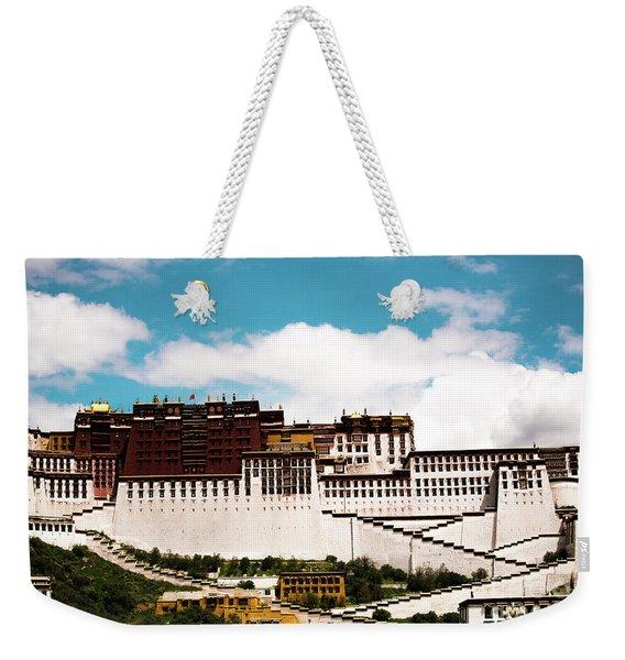 Dalai Lama Home Place. Potala Palace  Kailash Yantra.lv 2016 Tibet Weekender Tote Bag
