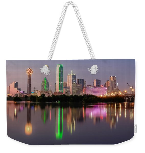 Dallas City Reflection Weekender Tote Bag