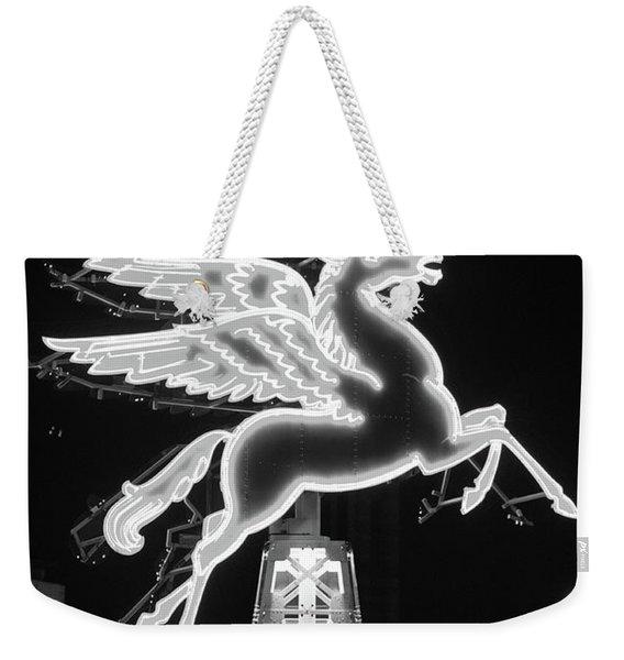 Dallas Pegasus Bw 121517 Weekender Tote Bag