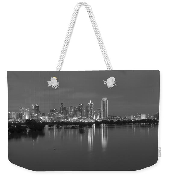 Dallas Skyline Trinity Black And White Weekender Tote Bag