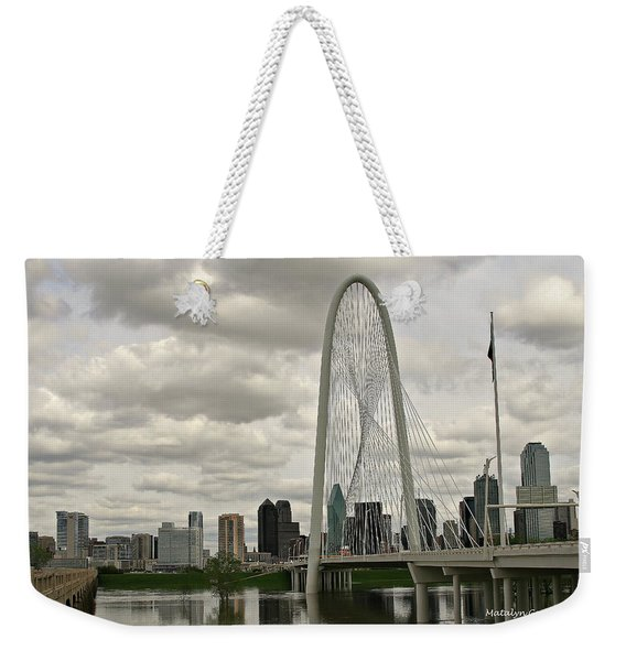 Dallas Suspension Bridge Weekender Tote Bag