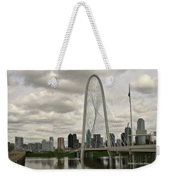 Dallas Suspension Bridge Weekender Tote Bag