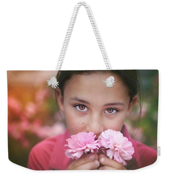 Damask Roses Weekender Tote Bag