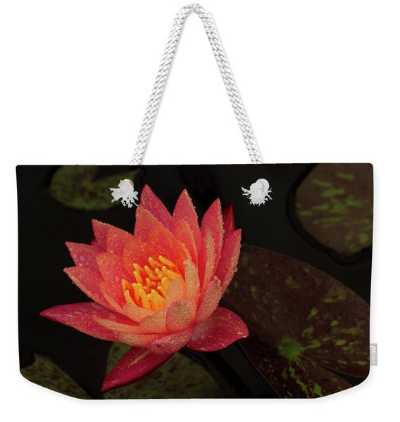 Damp Waterlily Weekender Tote Bag