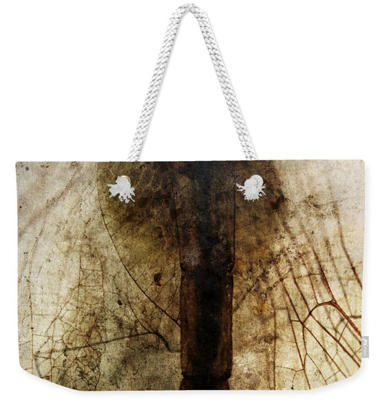 Weekender Tote Bag featuring the photograph Damselfly by Clayton Bastiani