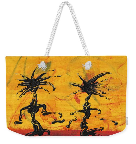 Dance Art Dancing Couple X Weekender Tote Bag