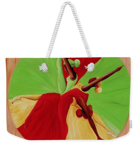 Dance Circle Weekender Tote Bag