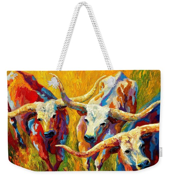 Dance Of The Longhorns Weekender Tote Bag