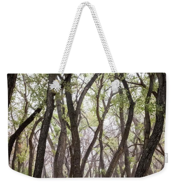 Weekender Tote Bag featuring the photograph Dance Of The Trees by Mary Lee Dereske