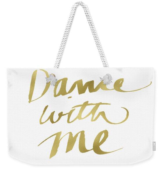 Dance With Me Gold- Art By Linda Woods Weekender Tote Bag