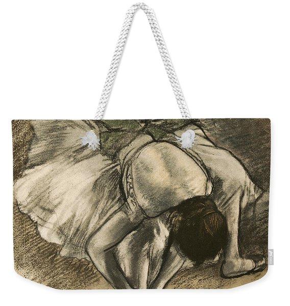 Dancer Tying Her Shoe Weekender Tote Bag
