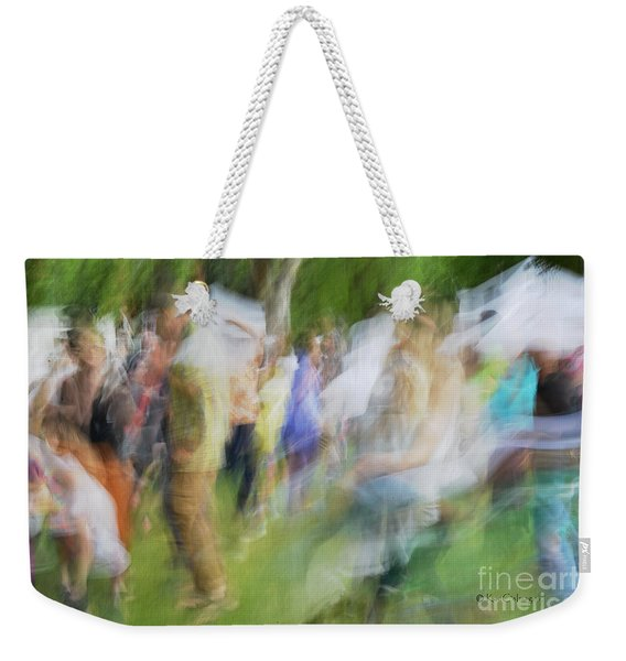 Dancing At The Music Festival Weekender Tote Bag