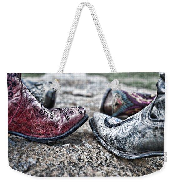 Dancing Boots Weekender Tote Bag