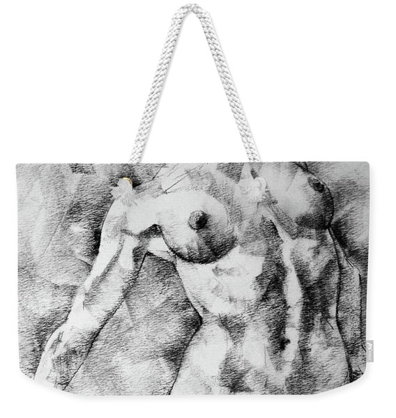Dancing Girl Drawing Weekender Tote Bag