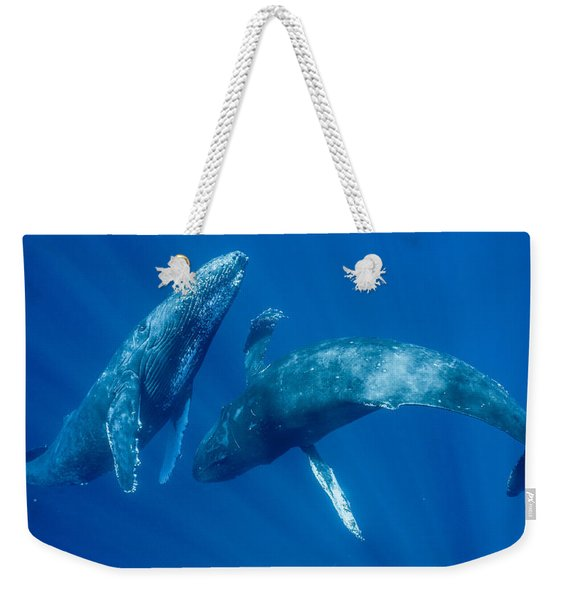 Dancing Humpback Whales Weekender Tote Bag