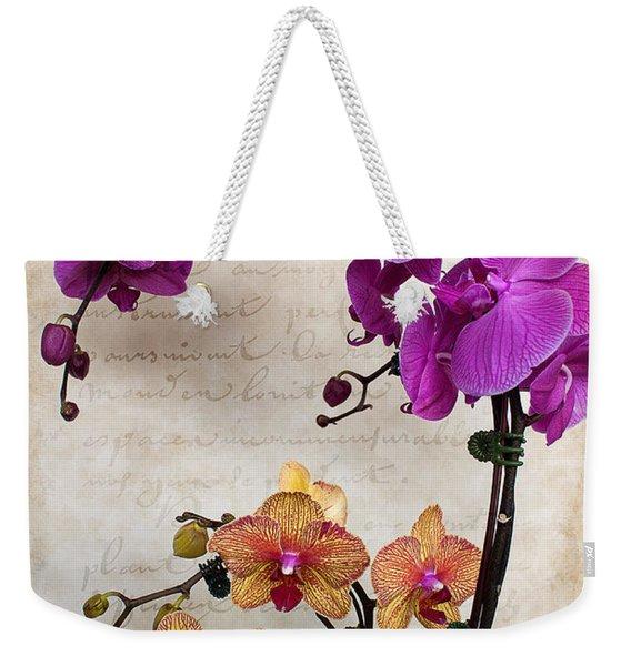 Dancing Orchids Weekender Tote Bag