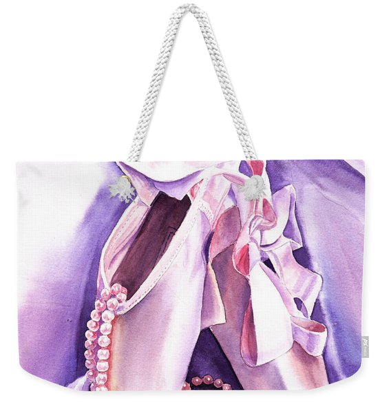Dancing Pearls Ballet Slippers  Weekender Tote Bag