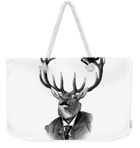 Dandy Deer Portrait Weekender Tote Bag