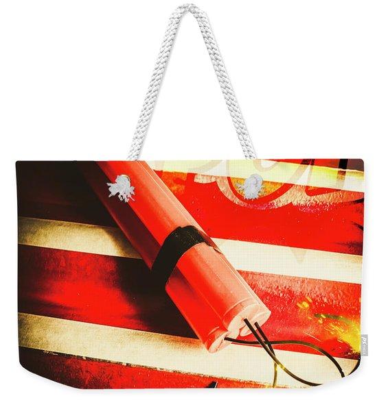 Danger Bomb Background Weekender Tote Bag