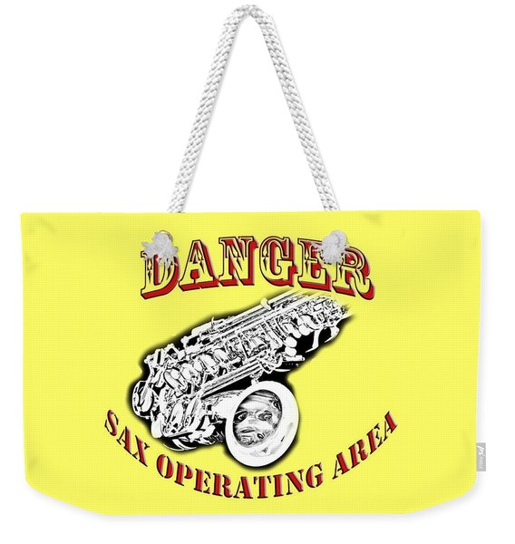 Danger Sax Operating Area Weekender Tote Bag