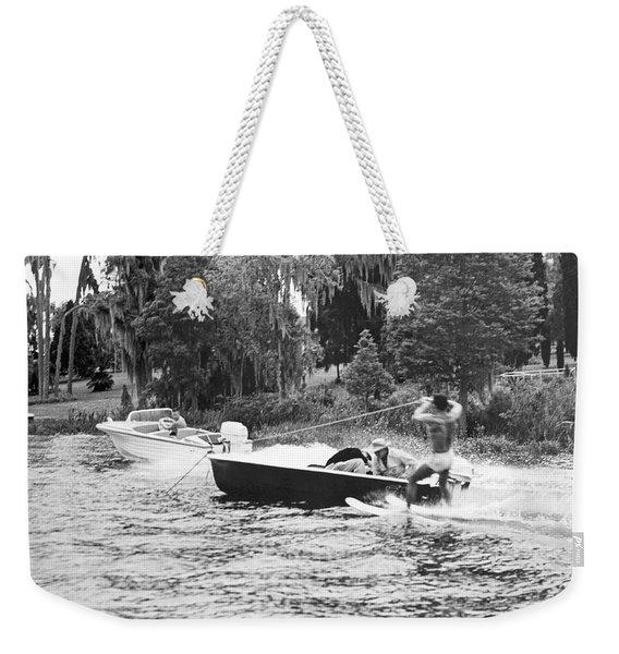 Dangerous Water Skiing Weekender Tote Bag