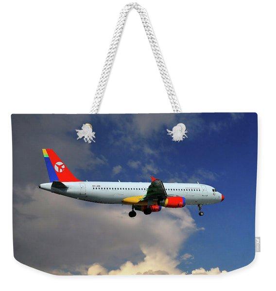 Danish Air Transport Airbus A320-233 Weekender Tote Bag