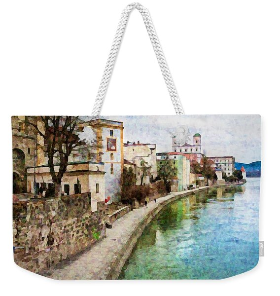 Danube River At Passau, Germany Weekender Tote Bag
