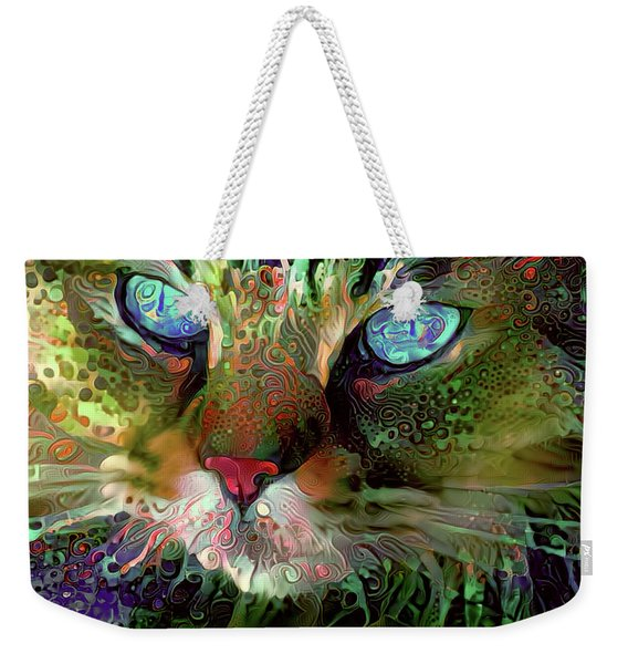 Darby The Long Haired Cat Weekender Tote Bag