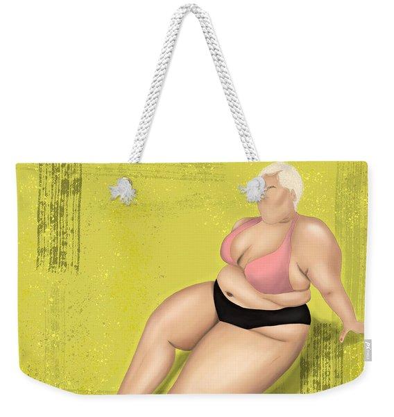 Weekender Tote Bag featuring the digital art Dare To Wear by Bria Elyce