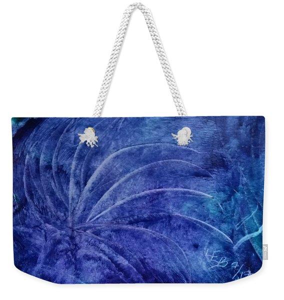 Dark Blue Abstract Weekender Tote Bag