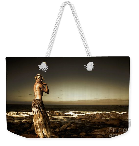 Dark Dramatic Fine Art Beauty Weekender Tote Bag