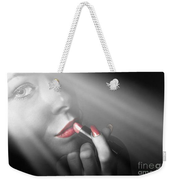 Dark Fashion And Make Up Beauty Weekender Tote Bag