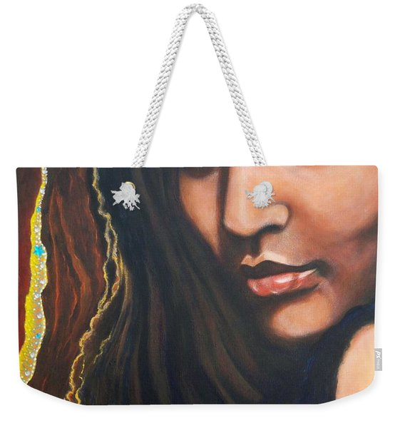 Dark Soulful Latin Eyes          From The Attitude Girls Weekender Tote Bag