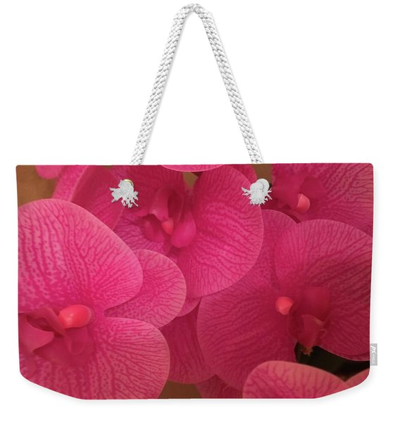 Dark Pink Orchids Weekender Tote Bag