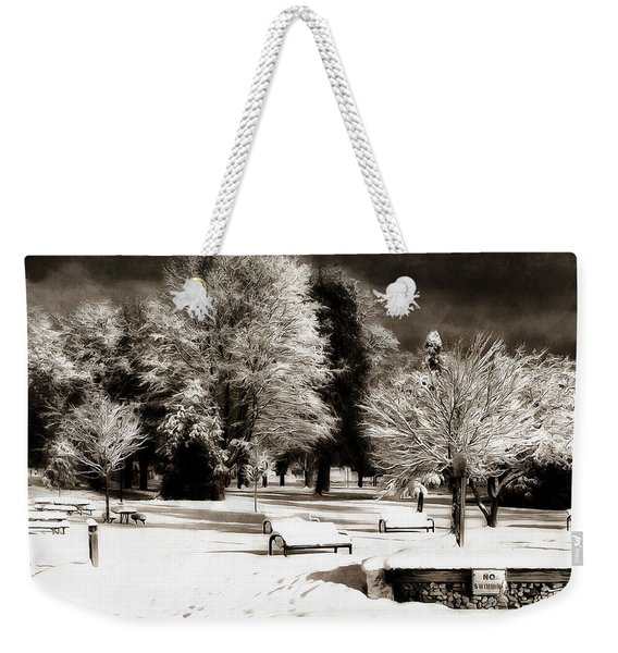Dark Skies And Winter Park Weekender Tote Bag