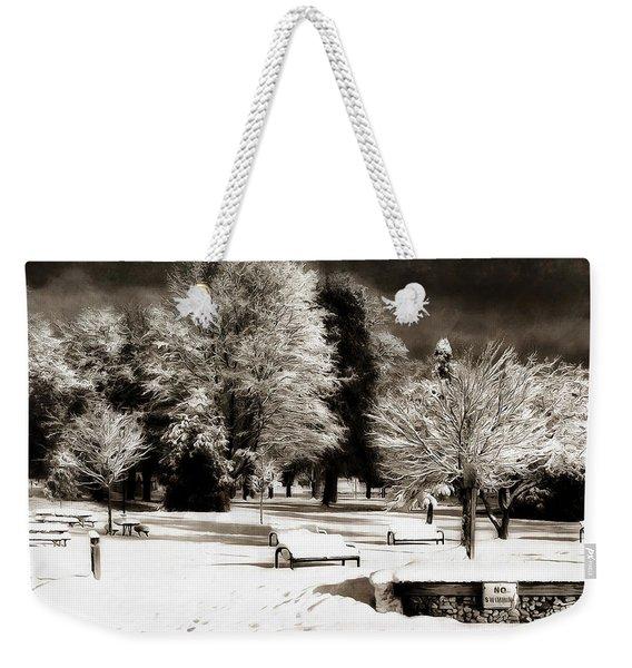 Dark Skies And Winter Park Weekender Tote Bag