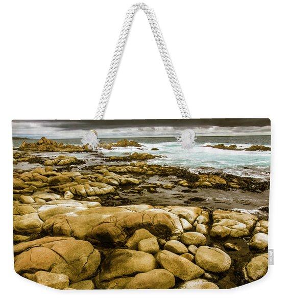 Dark Skies On Ocean Shores Weekender Tote Bag