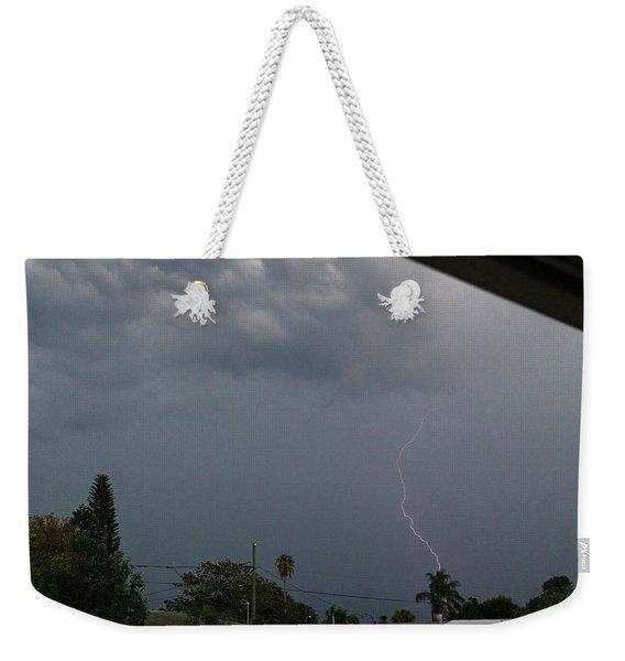 Dark Sky And Lightning Weekender Tote Bag