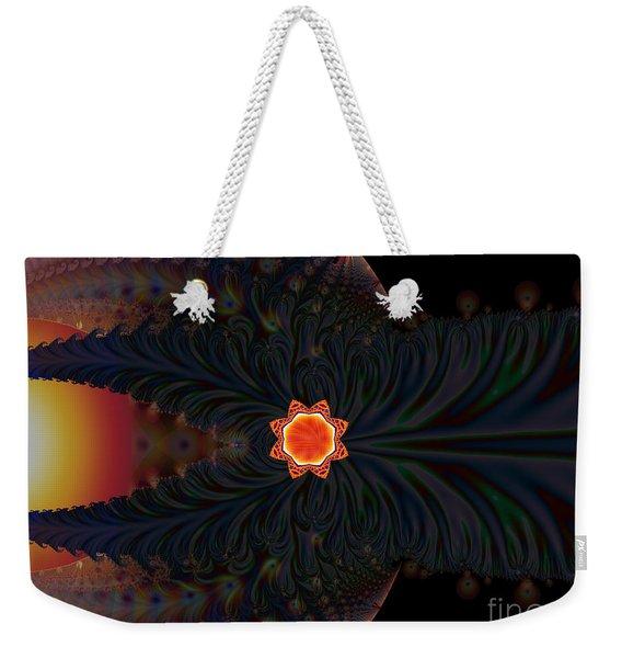 Dark Space Fractal  Weekender Tote Bag