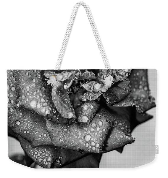 Dark Wet Rose Weekender Tote Bag
