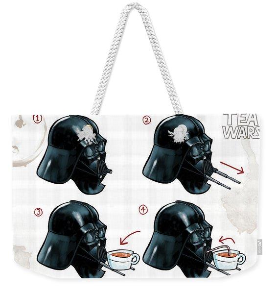 Darth Vader Tea Drinking Star Wars Weekender Tote Bag