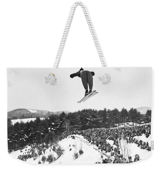 Dartmouth Carnival Ski Jumper Weekender Tote Bag