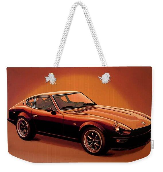 Datsun 240z 1970 Painting Weekender Tote Bag