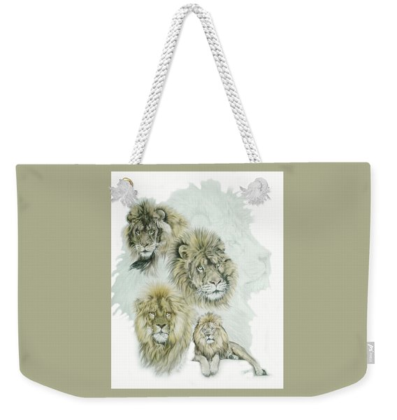 Weekender Tote Bag featuring the mixed media Dauntless by Barbara Keith